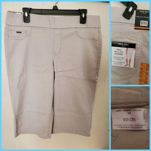 NWT NIne West White Bermuda Shorts 4 6 8 10 12 14 16